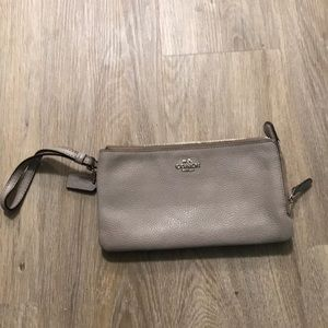 Coach Wristlet Wallet with two zip pockets
